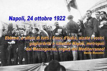 28 OTTOBRE (1922 - 2013) LA STORIA: INIZIO' DAL SUD,
