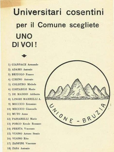 ITALIA-CALABRIA-COSENZA LA CRONACA CHE SI FA STORIA FORZA ITALIA ANNI-90 E UNIONE BRUZIA -1970 PER GLI ANNI 2000 EOLTRE