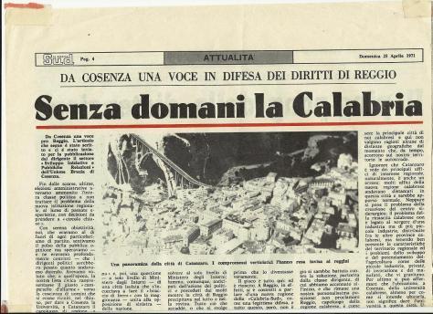 Il Nuovo Sud 25 aprile 1971