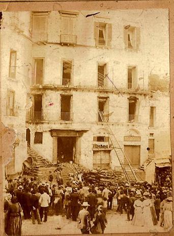 piazza Duomo l'indomani dell'incendio avvenuto il 29 Settembre1901