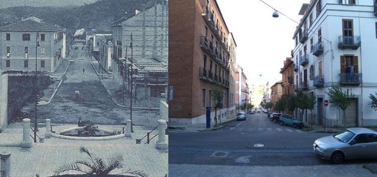 via Isonzo prima e dopo
