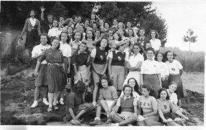 1941, campeggio in Sila delle universitarie fasciste del G.U.F