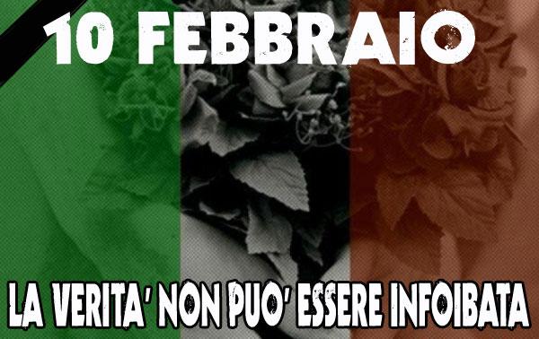 10 FEBBRAIO GIORNO DEL RICORDO LA SHOAH D'ITALIA FOIBE ESODO E MASSACRI A ORIENTE D'ITALIA TRA I TANTI CRIMINI CONTRO L'UMANITA' ESENTATI DA UNA NORIMBERGA
