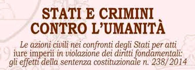 I NOSTRI SERVIZI IN RETE SU TUTTI I CRIMINI CONTRO L'UMANITA'