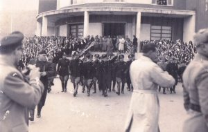 Fine anni '30. Manifestazione fascista.