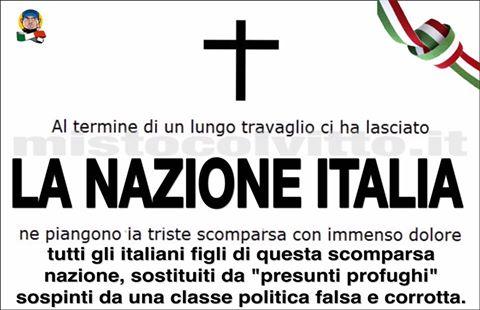 AL TERMINE DI UN LUNGO TRAVAGLIO CI HA LASCIATO LA NAZIONE ITALIA !